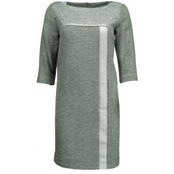 Szara sukienka srebrne...