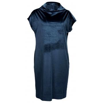 Granatowa sukienka bez rękawów