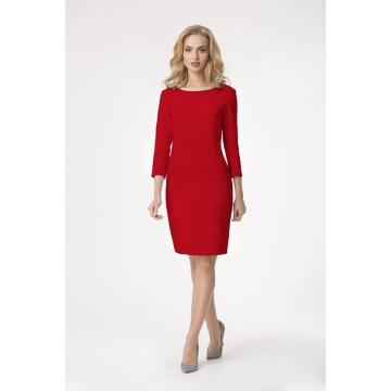 Czerwona sukienka z zamkiem...