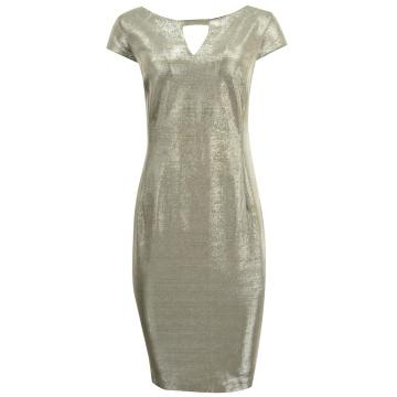 Srebrna błyszcząca sukienka