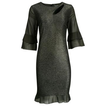 Czarna błyszcząca sukienka