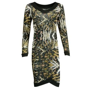 Sukienka kolorowe wzory liści