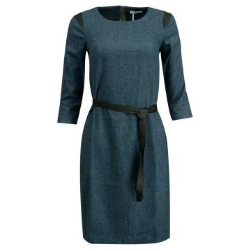 Granatowa sukienka w stylu...