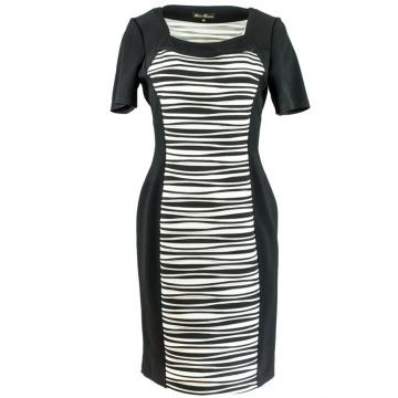 Czarna sukienka w biało...