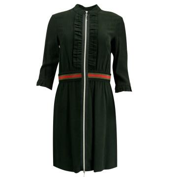 Czarna sukienka z zamkiem...