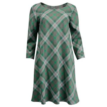 Sukienka zielona w kratę Akis