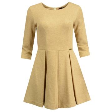 Sukienka beżowo-złota