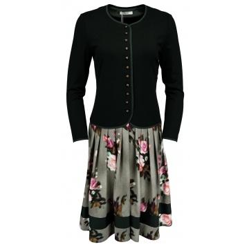 Czarna sukienka z guzikami...