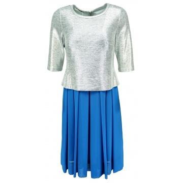 Niebieska sukienka ze...