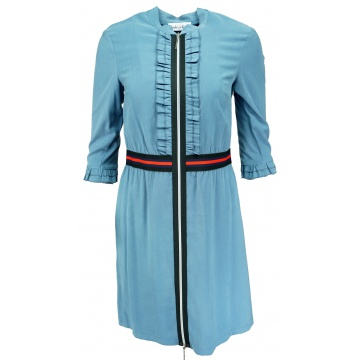 Niebieska sukienka z...