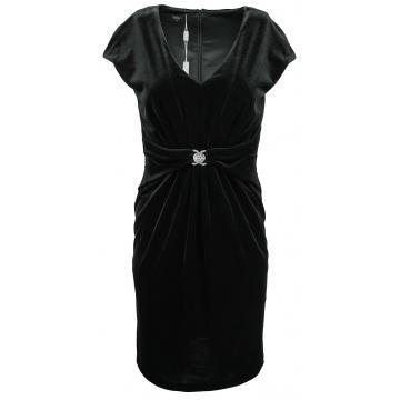 Czarna sukienka z weluru