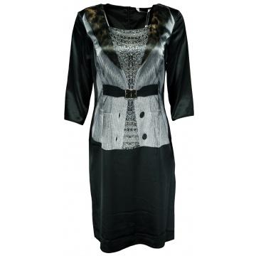 Czarna satynowa sukienka...