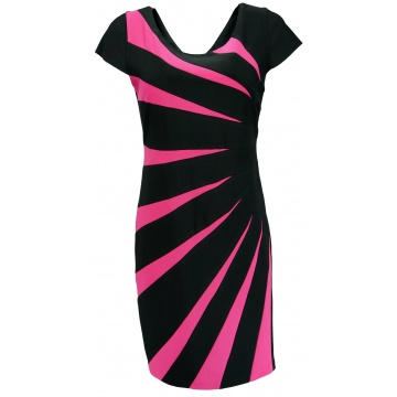 Czarno-różowa sukienka...