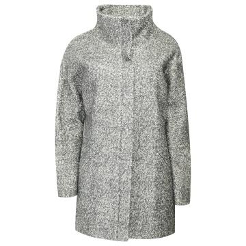 Grafitowy płaszcz damski z...