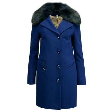 Chabrowy płaszcz damski z...