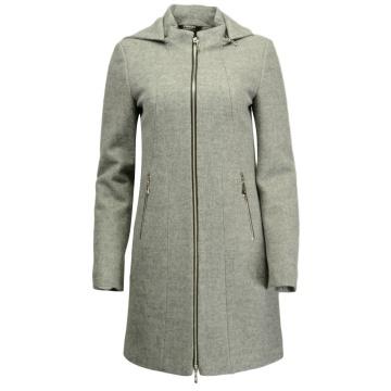 Wełniany płaszcz damski z...