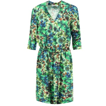 Zielona sukienka szmizjerka...