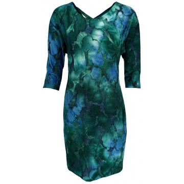 Niebiesko-zielona sukienka
