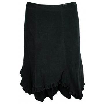 Czarna spódnica sztrukswa z...