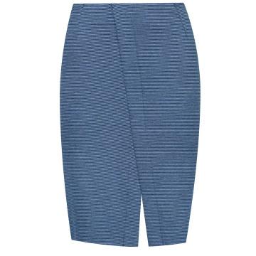 Niebieska ołówkowa spódnica...