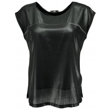 Czarna bluzka damska z...
