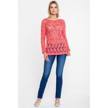Sweter damski koralowy 7185