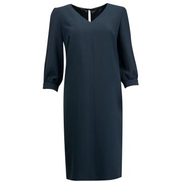 Granatowa sukienka z...