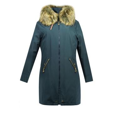 Granatowa kurtka zimowa z...