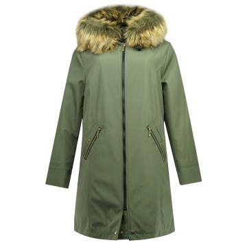 Zielona kurtka zimowa z...
