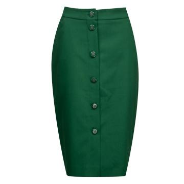 Zielona ołówkowa spódnica...