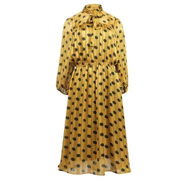 Zwiewna miodowa sukienka z...