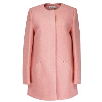 Krótki różowy płaszcz...