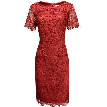 Wiśniowa wizytwa sukienka z...