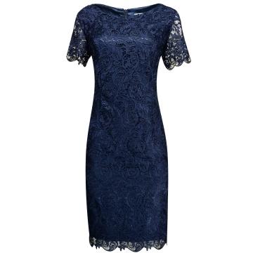 Granatowa wizytwa sukienka...