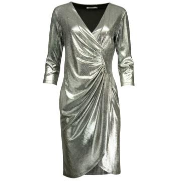 Srebrna wizytowa sukienka z...
