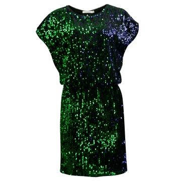 Wizytowa sukienka w zielone...
