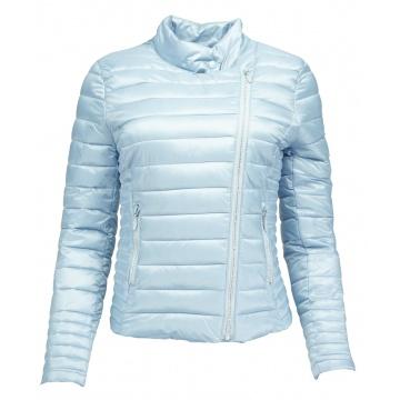 Błękitna pikowana kurtka...