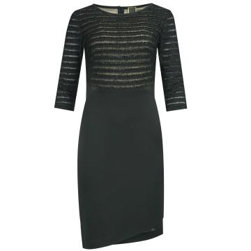 Czarna wizytowa sukienka z...