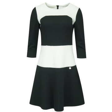 Czarno-biała wizytowa sukienka