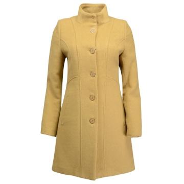 Miodowy płaszcz damski...