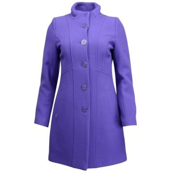 Fioletowy płaszcz damski...