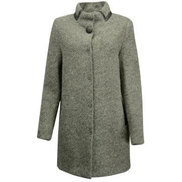 Szary płaszcz damski zimowy...