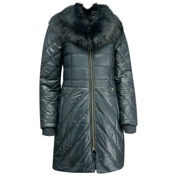 Zimowa długa kurtka damska...